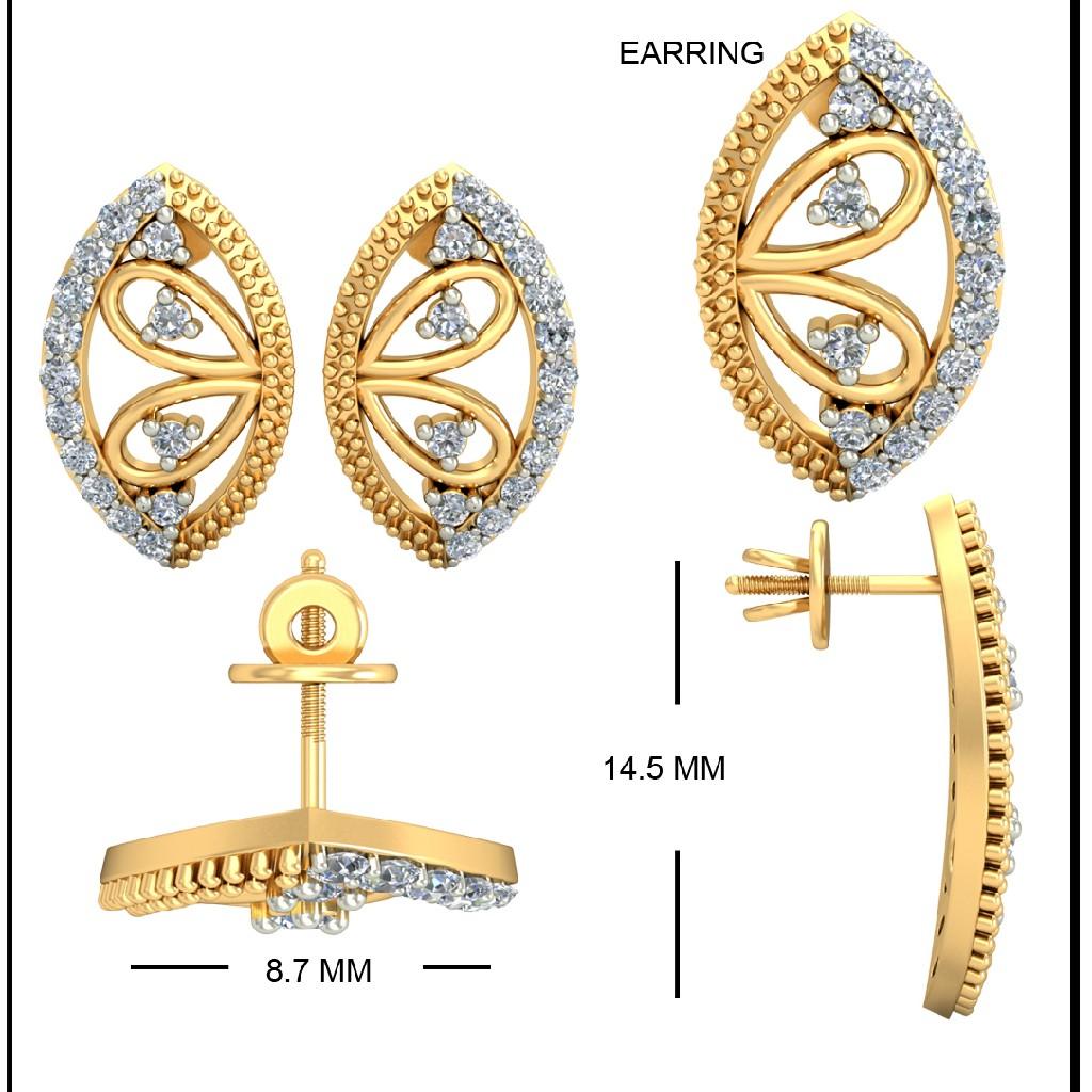 22kt Yellow Gold Eascape Earrings For Women