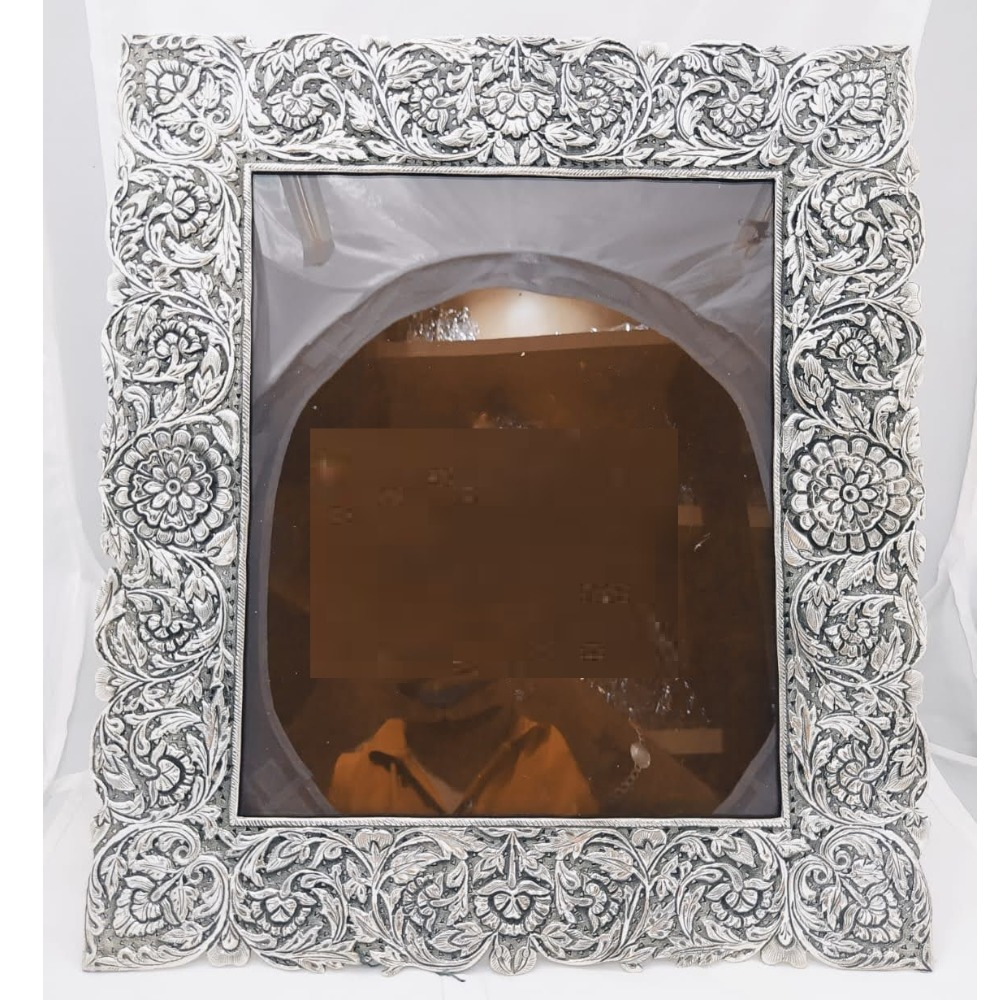 Pure silver photo frame in antique nakashii po-171-12