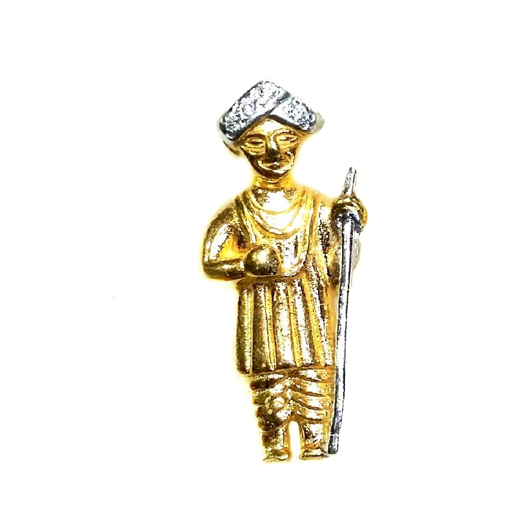 22k Gold Jalaram Bapa Pendant MGA - GP008