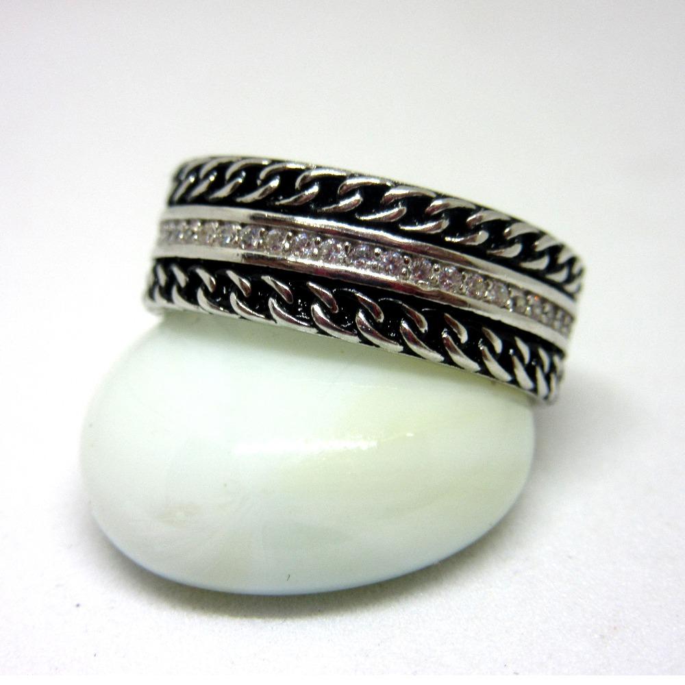 925 silver black & white band sr925-76