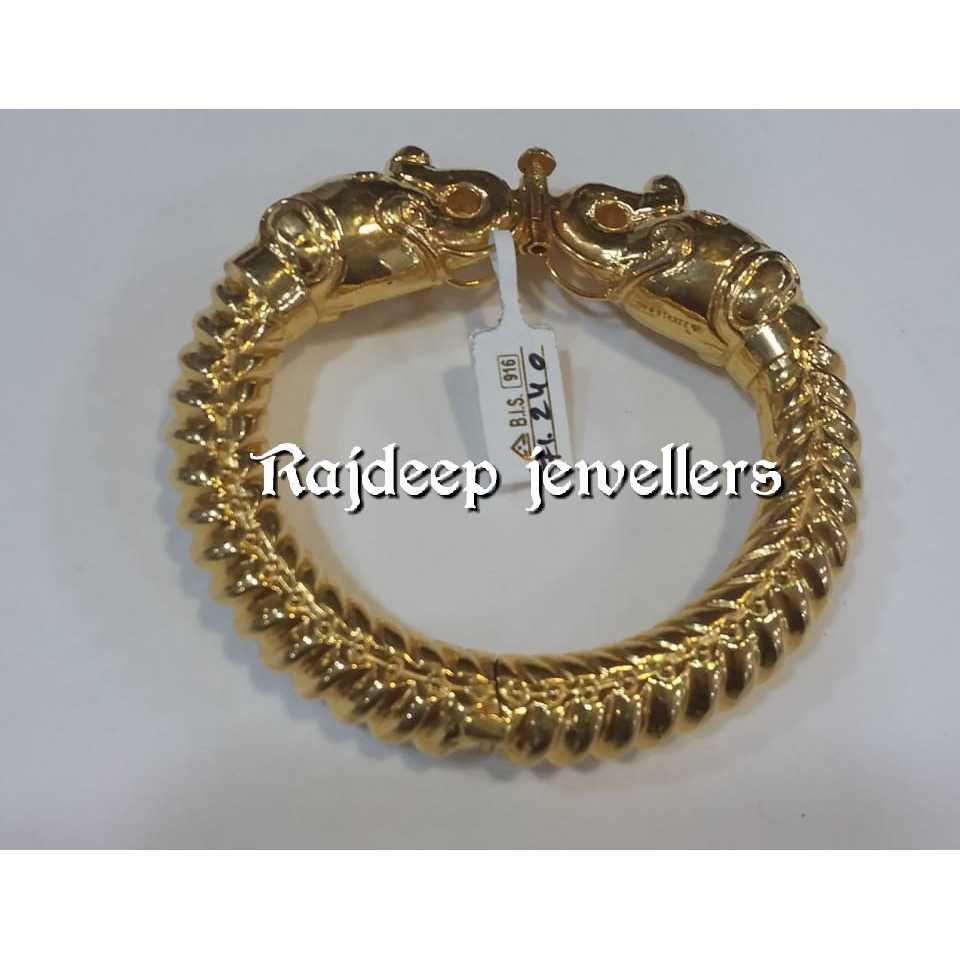 916 Gold Traditional Bracelet For Gents