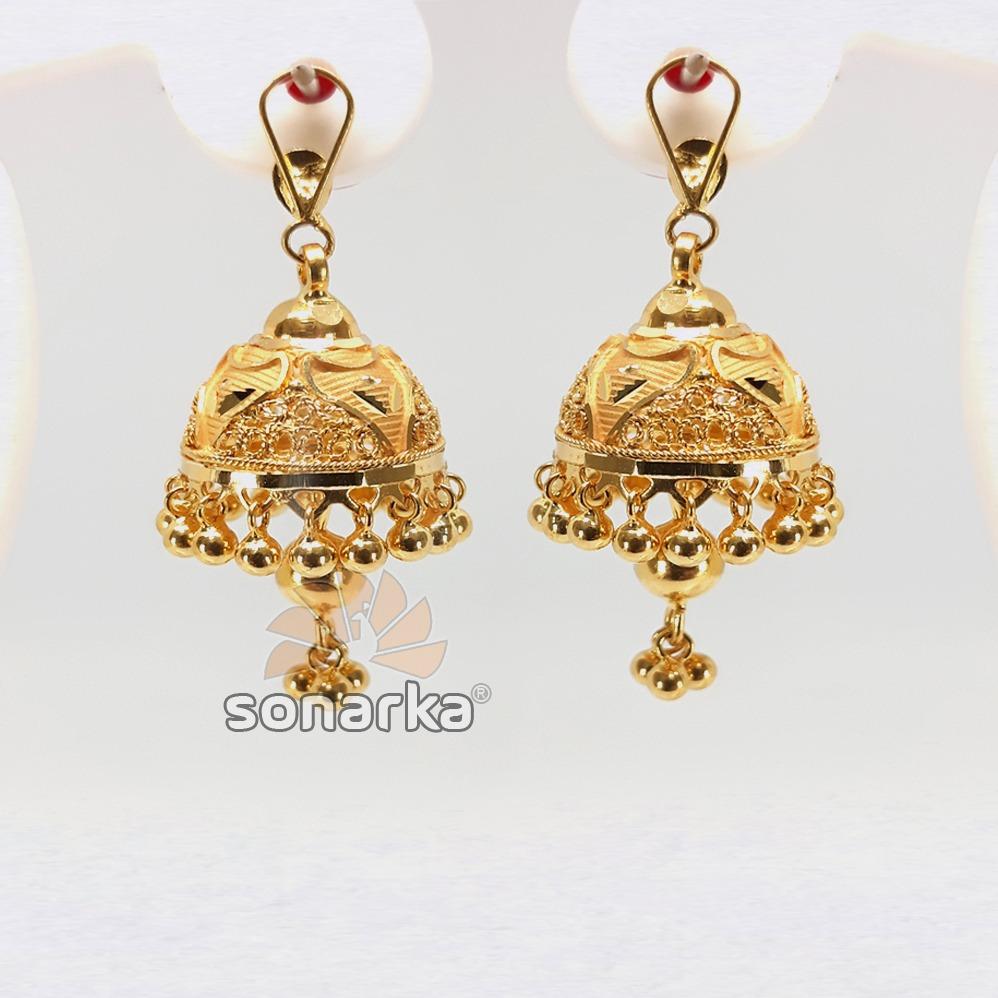 Gold detachable earring jhumka sk - e015