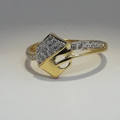 916 Gold hexagon shape ladies ring MJ-ZK7088