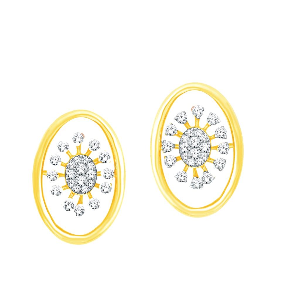 Real diamond fancy earrings