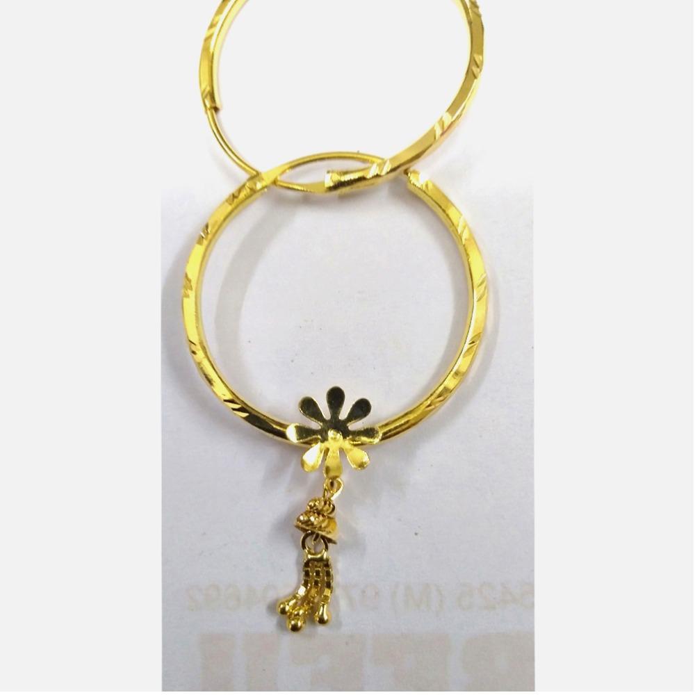 22kt Gold Ladies Flower Shaped Round Bali