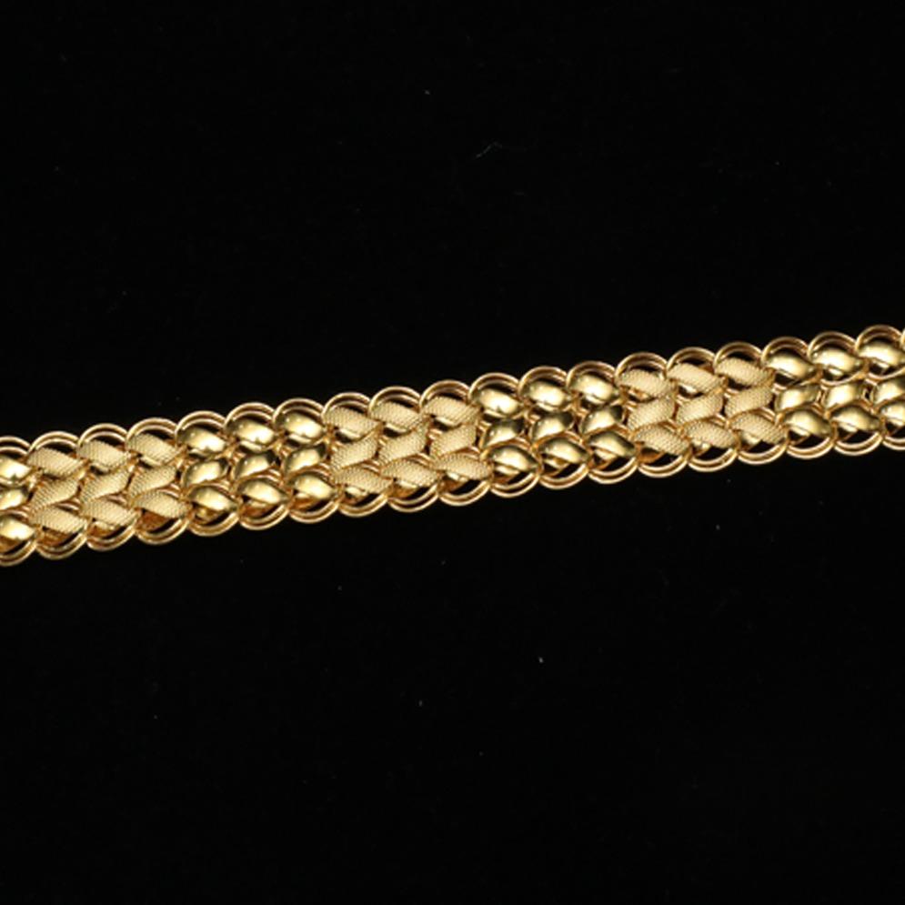 916 Gold Gents Lucky Bracelet ML-B005