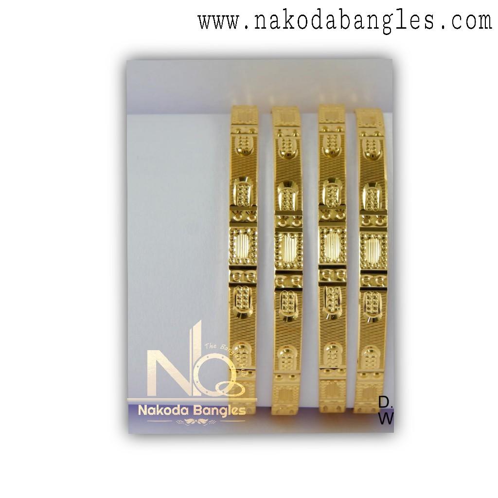 916 Gold CNC Bangles NB - 1316