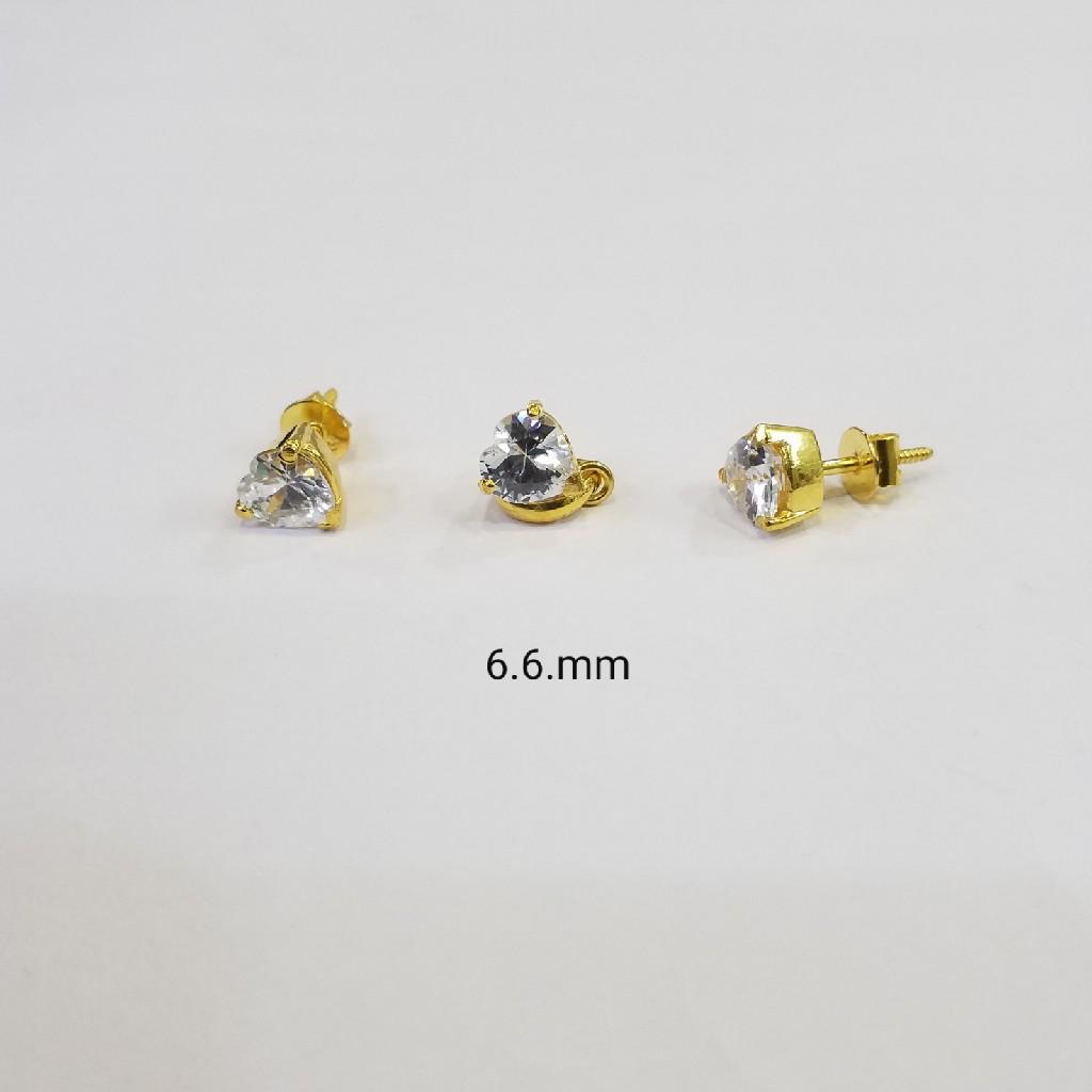 18kt gold c ston butti MC0263