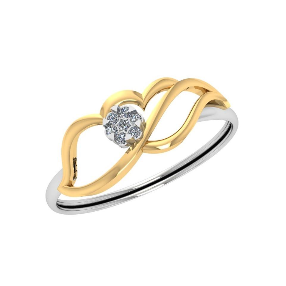 22Kt Gold Designer Diamond Ring JJ-R04