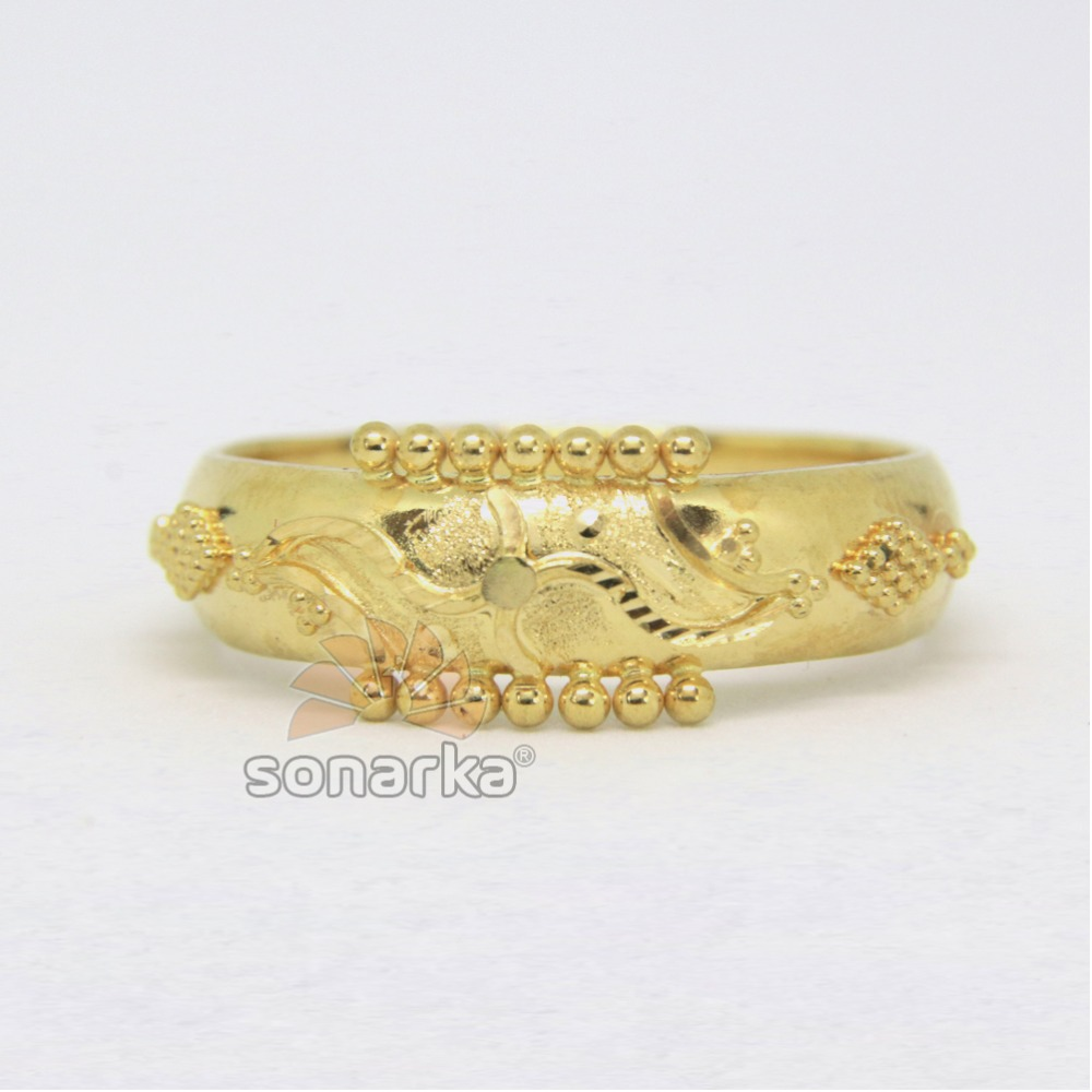22ct 916 Yellow Gold Ladies Ring Indian Rasrava Bands