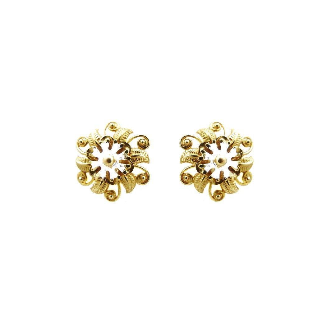 22K Gold Little Flowery Tops