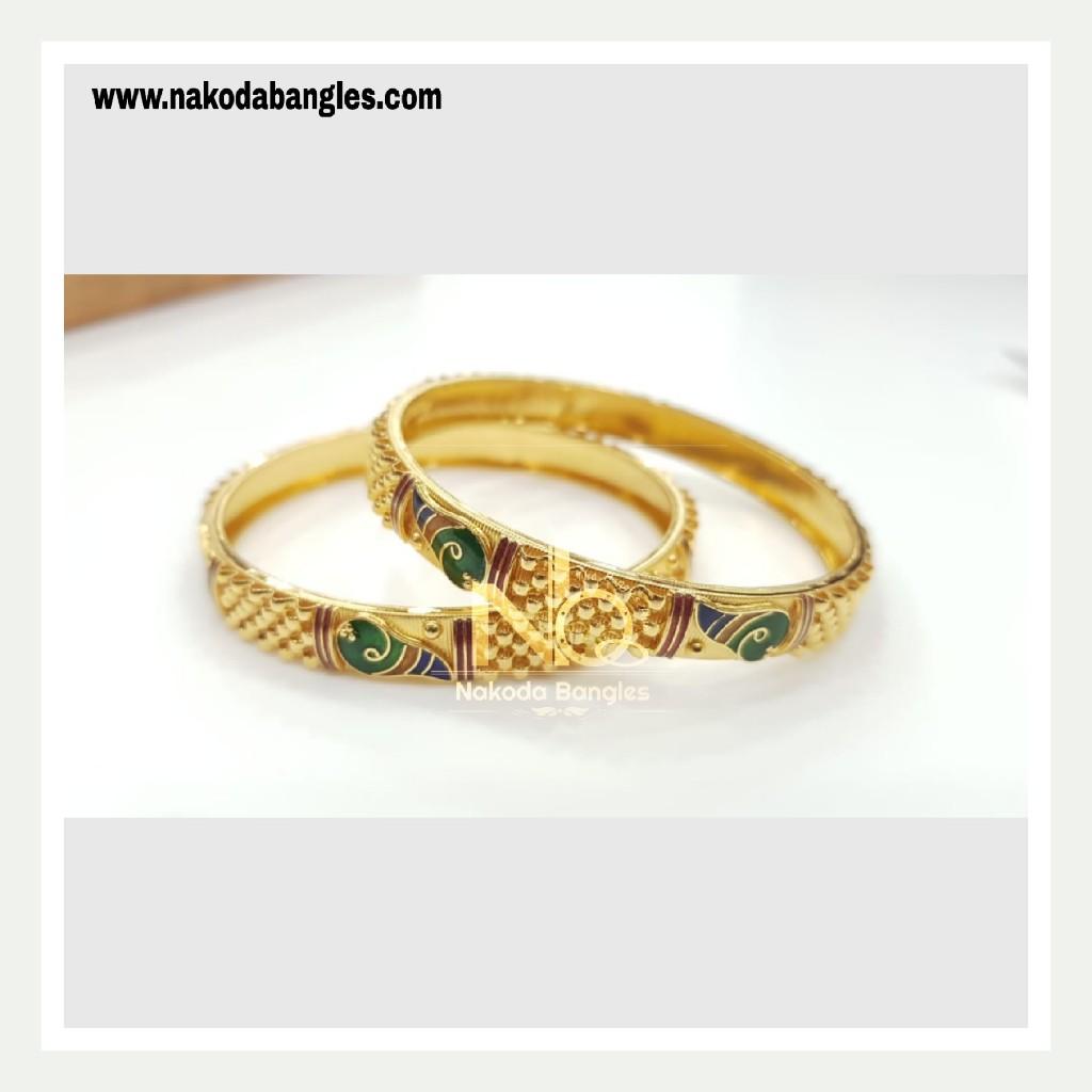 916 Gold Patra Bangles NB - 776