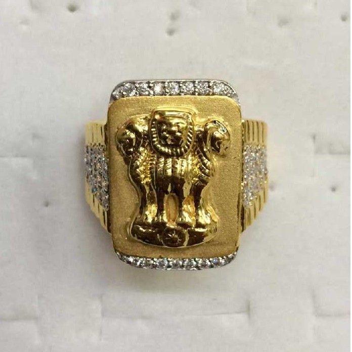 22kt Gold Ashok Stambh Ring
