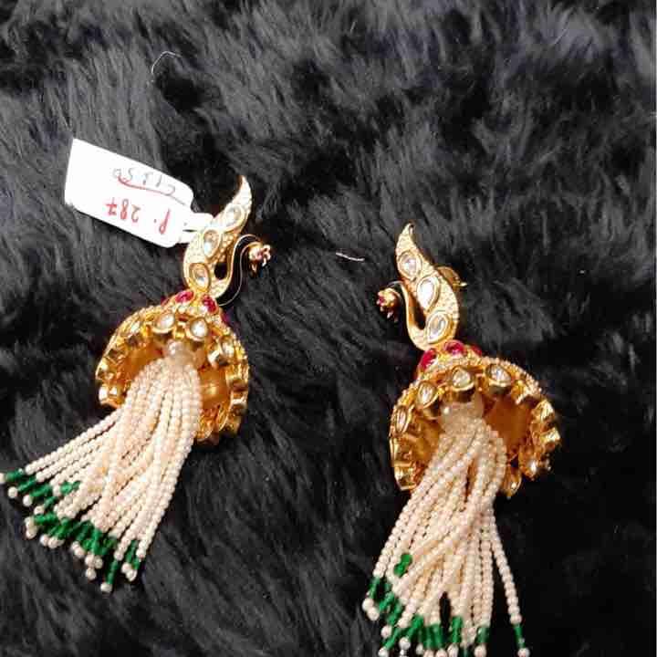 Peacock Design Diamond Earring