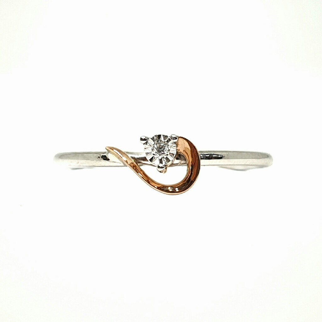 18k white gold rose gold real diamond ring mga - rdr0027