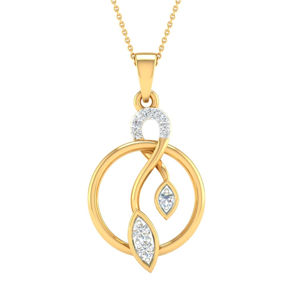 Branded fancy real diamond pendant