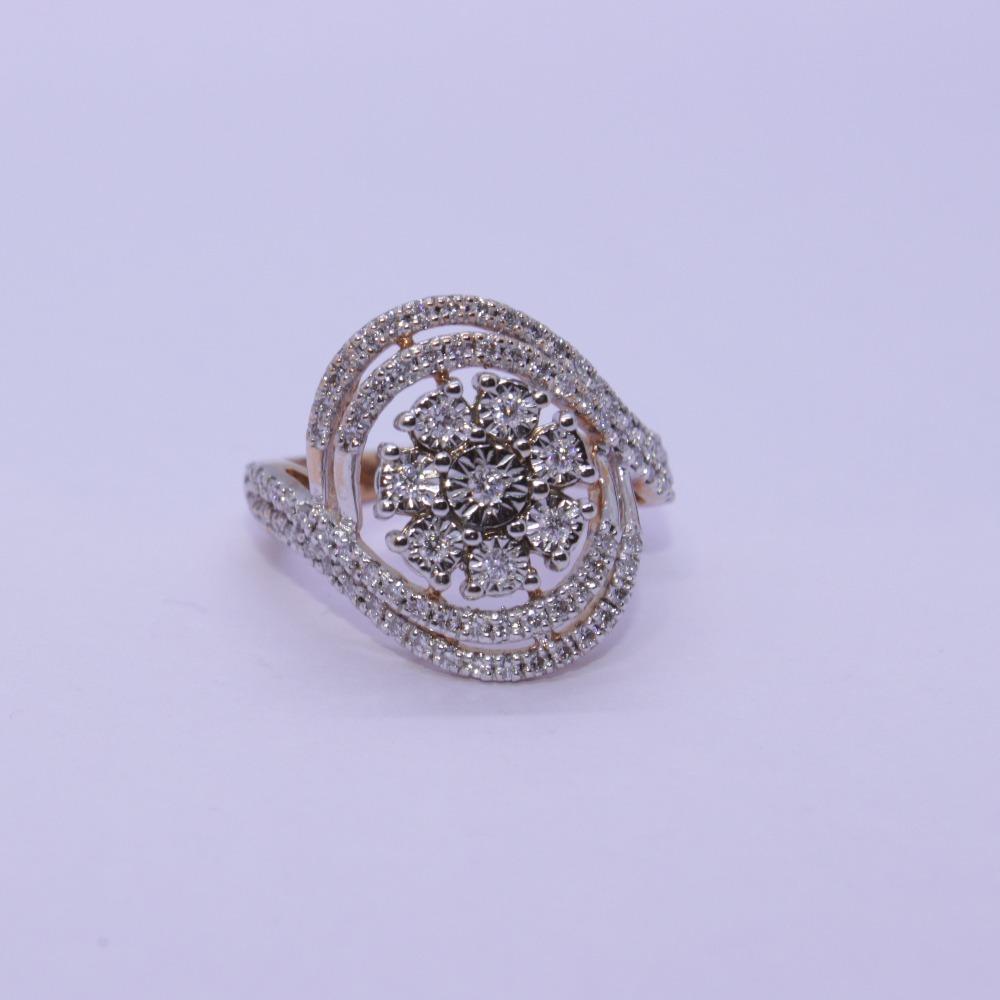 18K gold diamond ring agj-lr-307