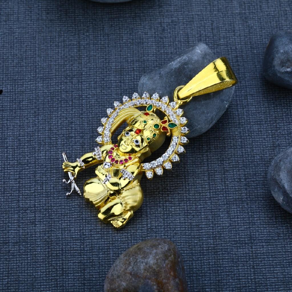 Men's Exclusive 22K Krishna God Gold Pendant- GP41
