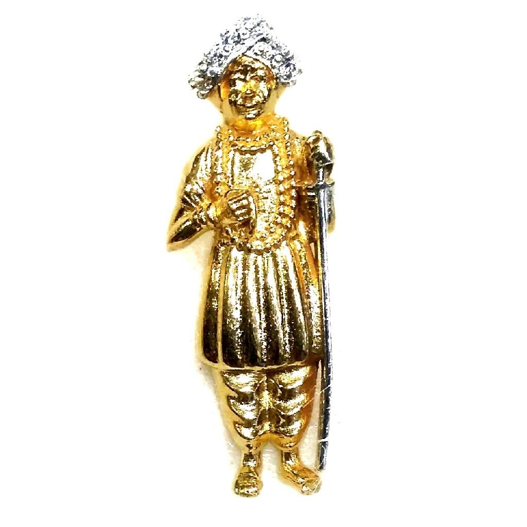 22k Gold CZ Diamond Jalaram Bapa Pendant MGA - GP010