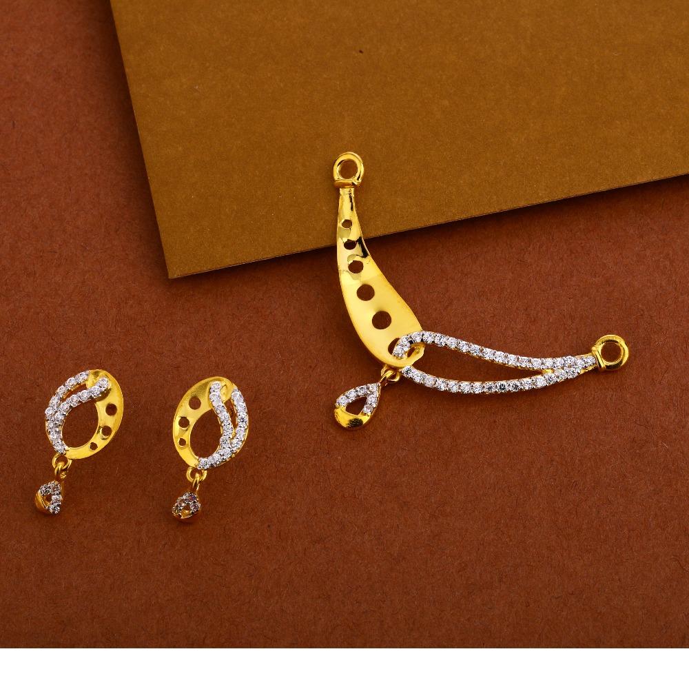 22KT Gold Fancy  Mangalsutra Pendant Set MP267