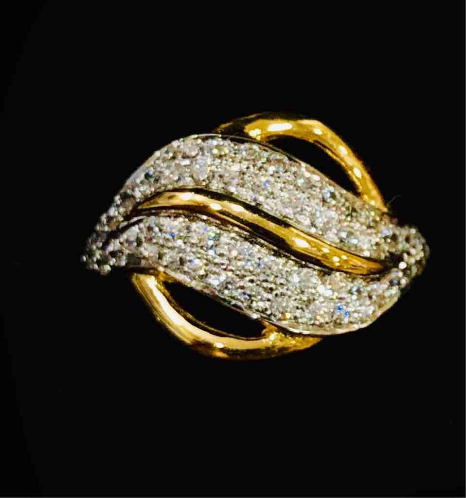 916 Gold Fancy Designer Ladies Ring