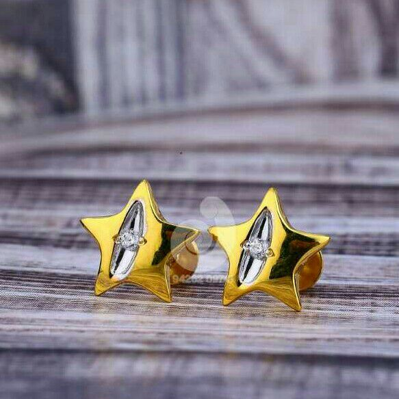 18ct Star Shaped Cz Tops