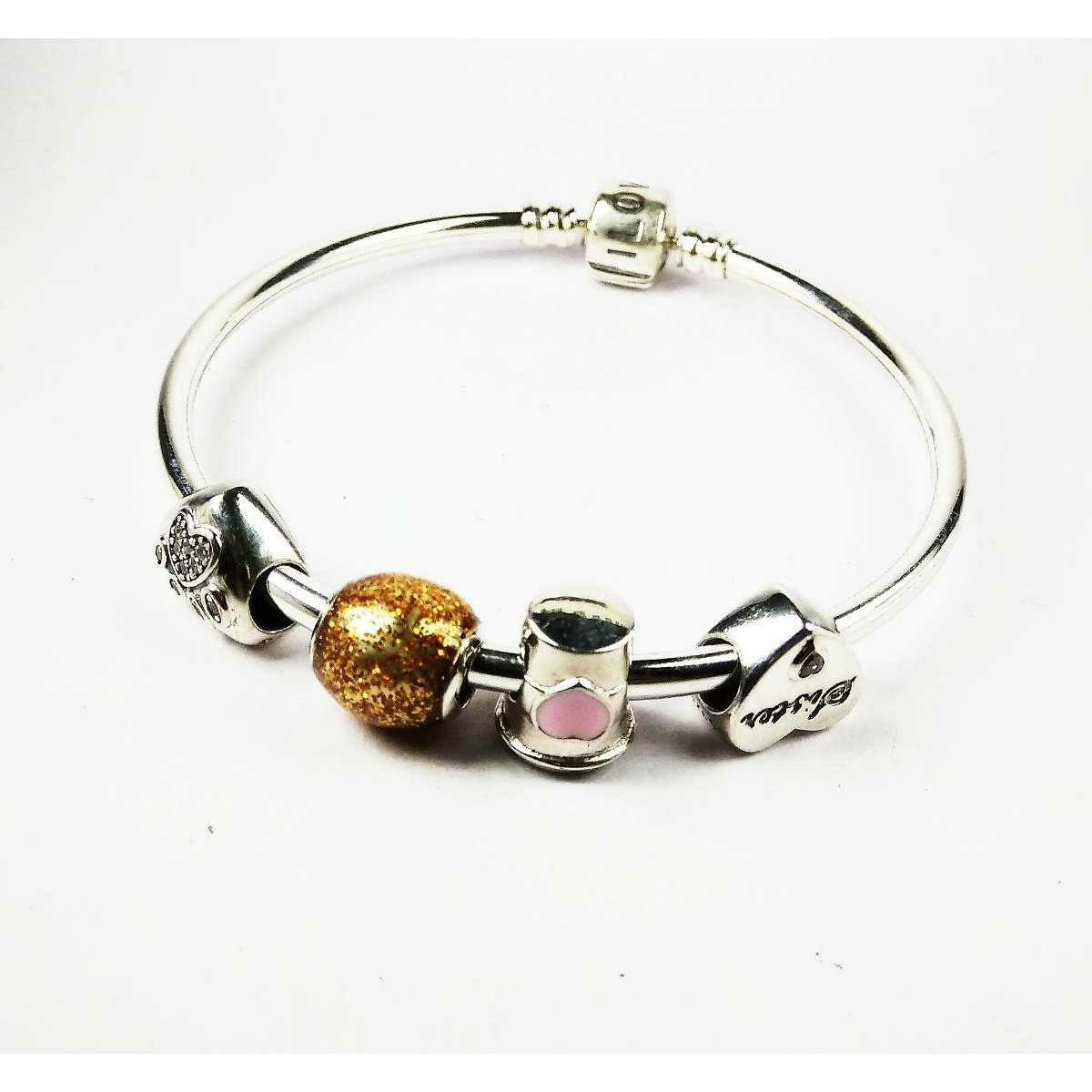 Fancy 925 Silver Ladies Kada Bracelet For Sisters