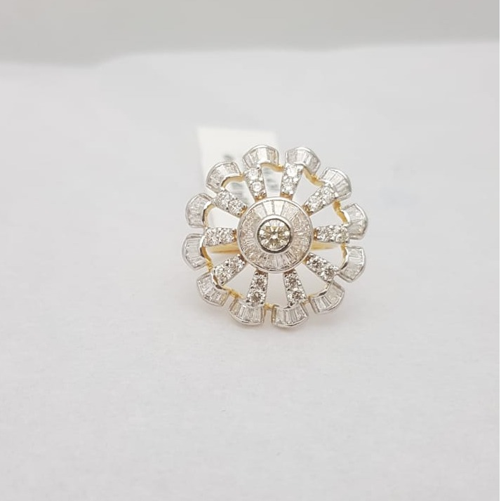 Flower Design Fancy Diamond Ring KJ-LR02