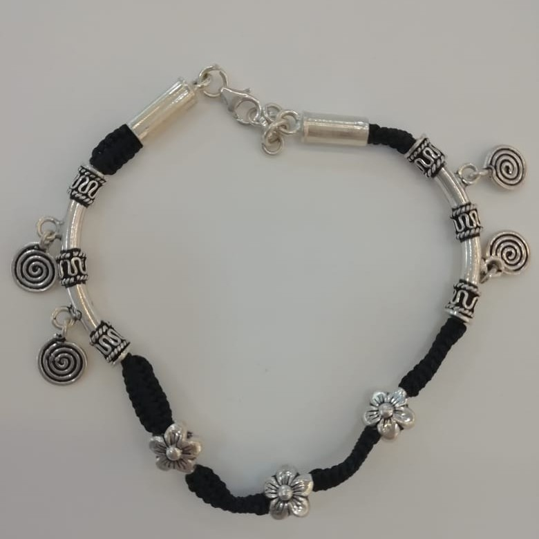 Sterling silver handcrafted anklet