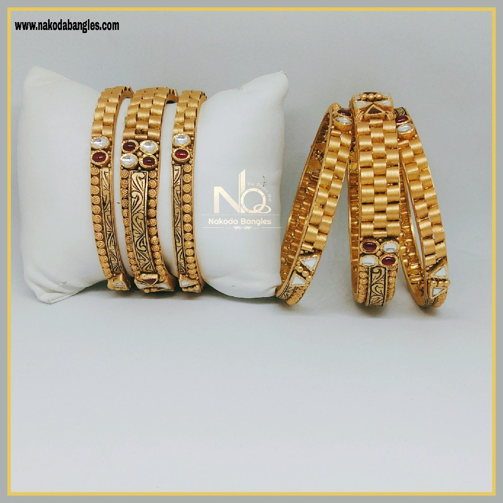916 Gold Patla Bangles NB-291