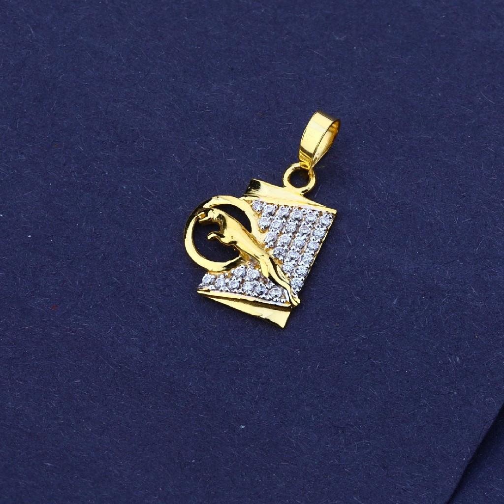 916 Gold Jaguar Design Pendant MFP15