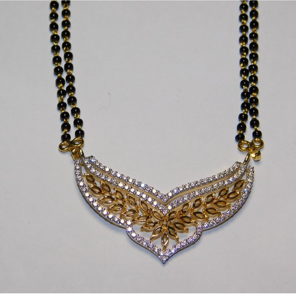 18K gold diamond mangalsutra agj-tm-20