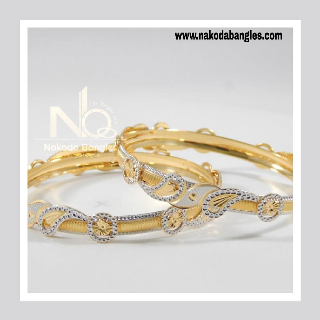 916 Gold CNC Bangles NB - 711
