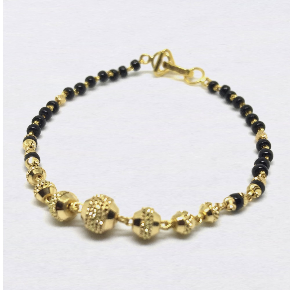 Two Tone Gold Ladies Lucky Beads Bracelet