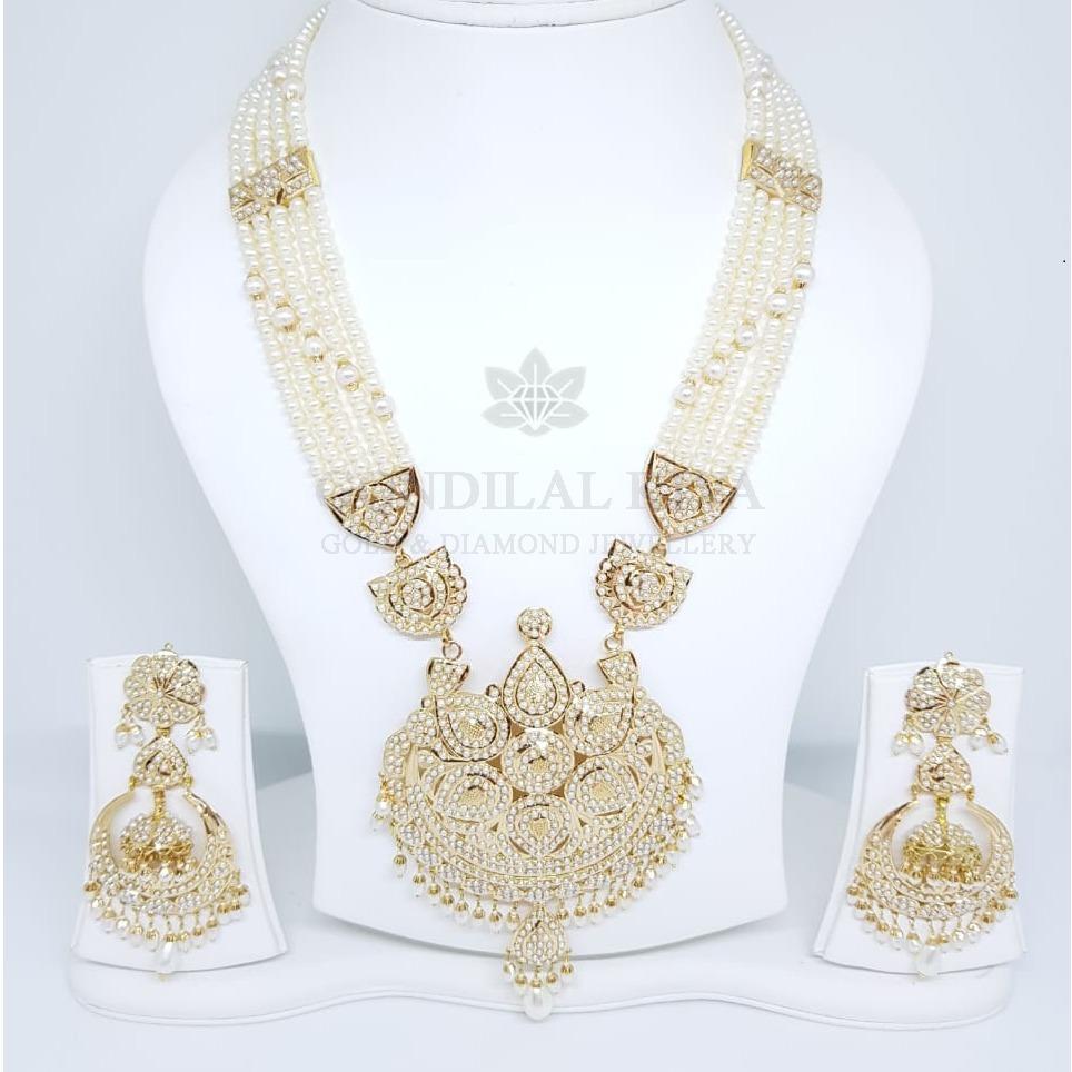 18kt gold necklace set gnl175 - gbl100