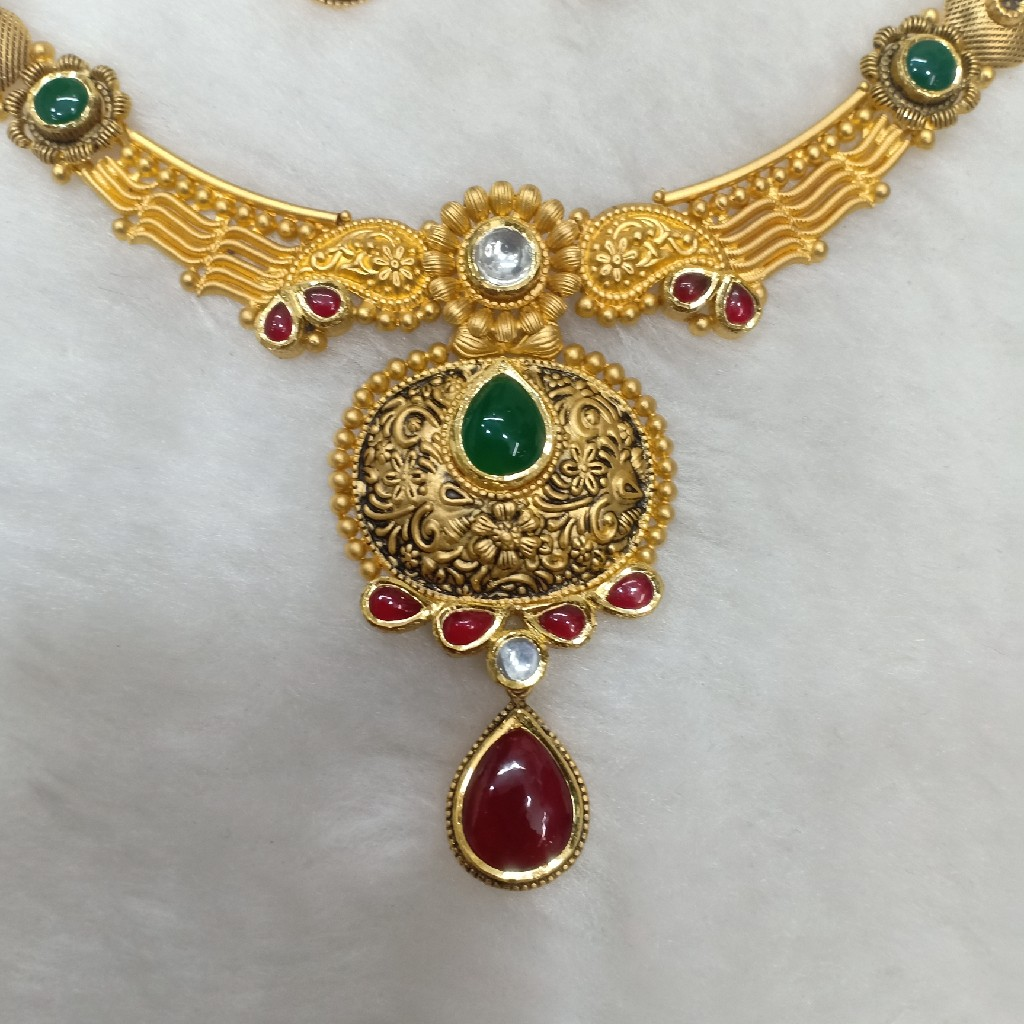 22k antique necklace set