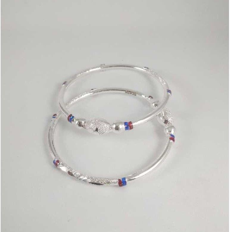 Silver Fancy Bangles. NJ-B01044