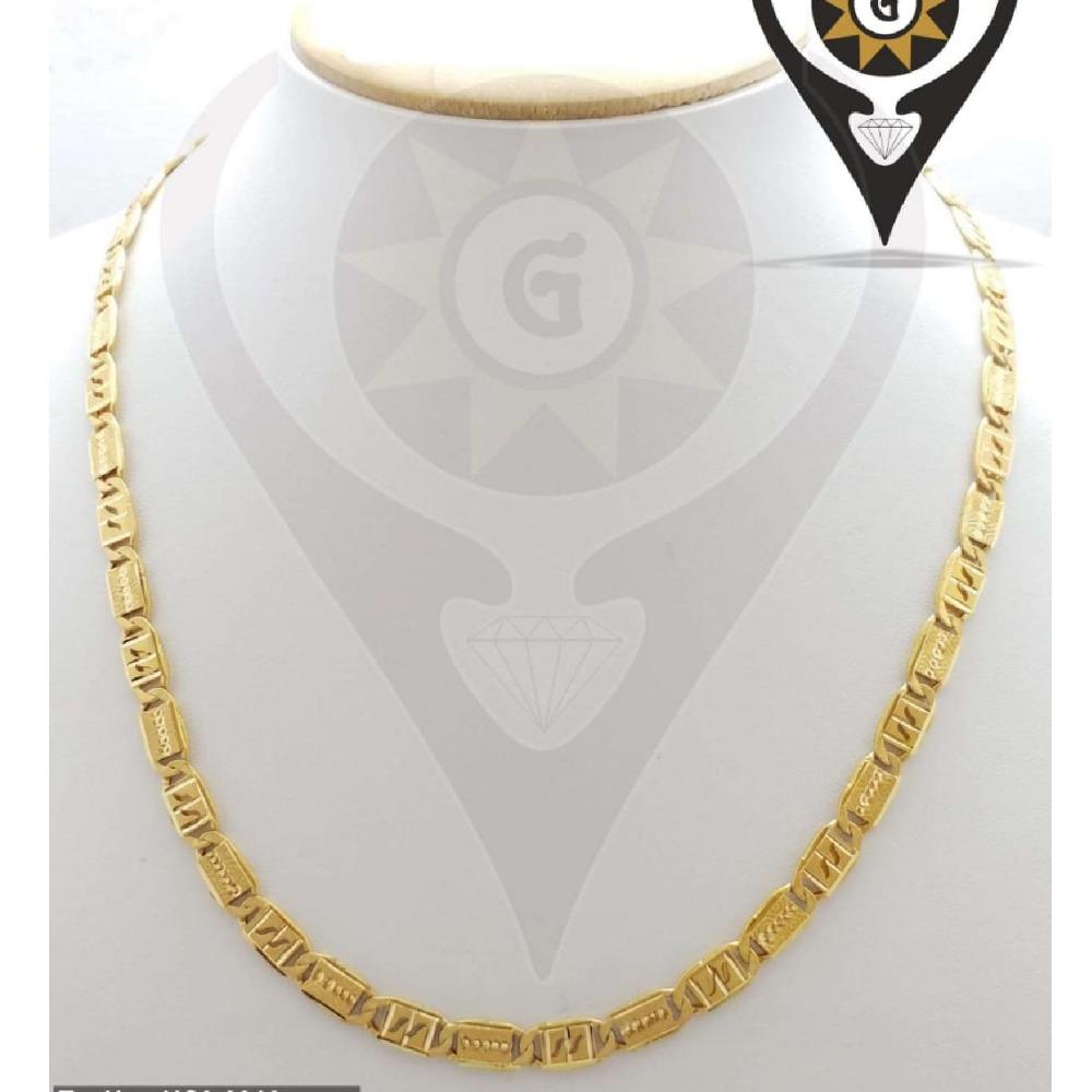 916 Gold Hallmark Hollow Nawabi chain