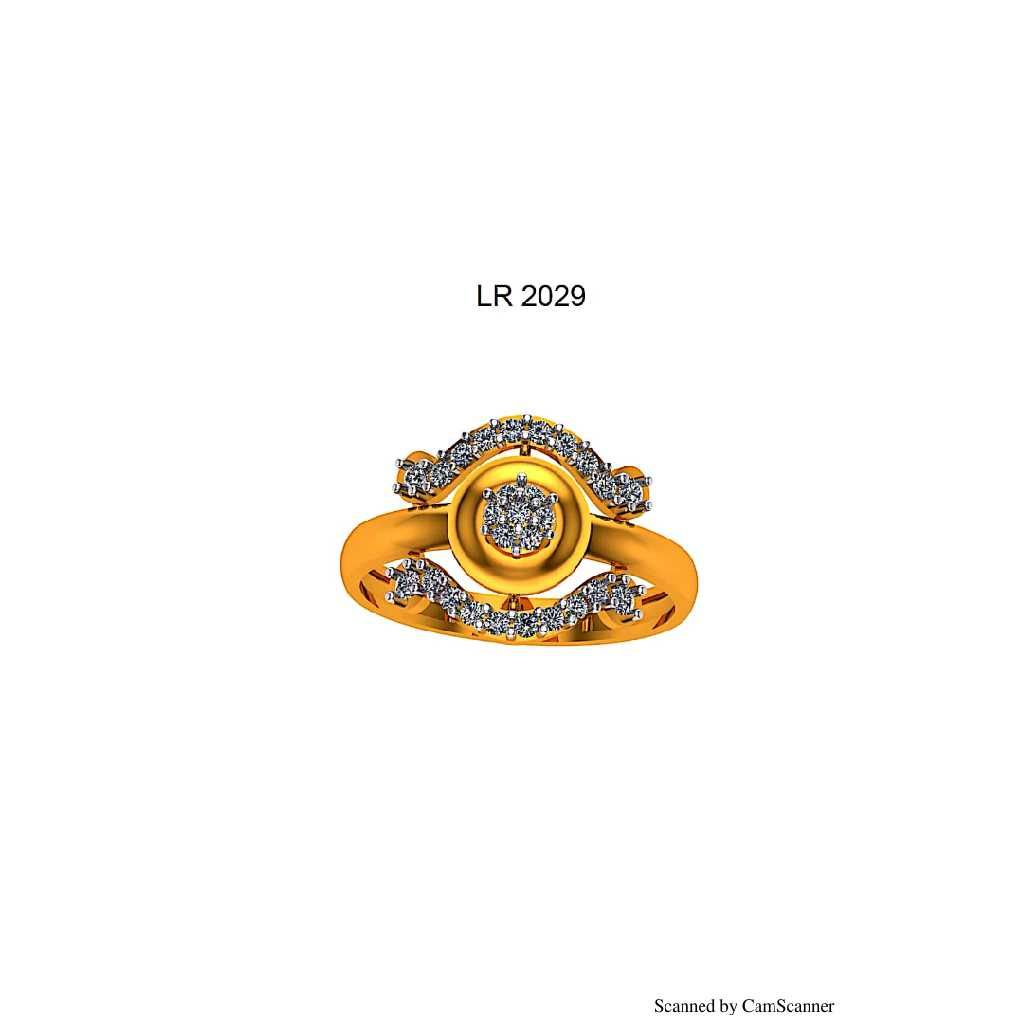 76 gold cz ladies ring 029