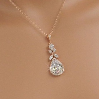 designer rose gold pendant