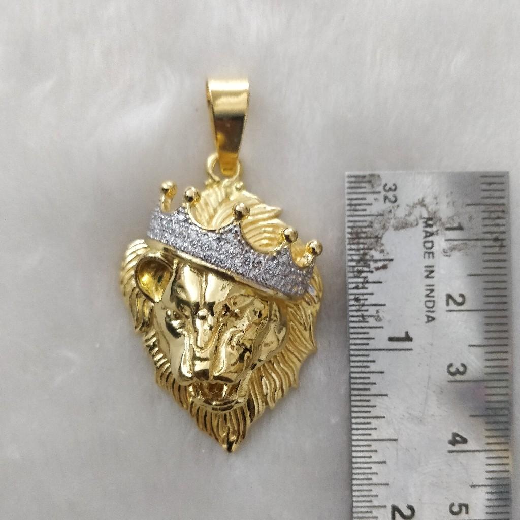 916 Gold Fancy Gent's Lion king's Pendant