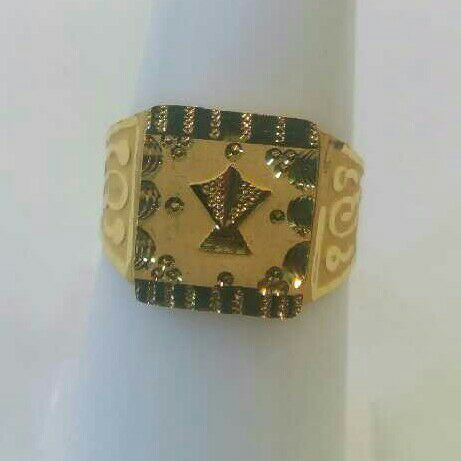 18K / 750 Gold Stylish Gents Ring