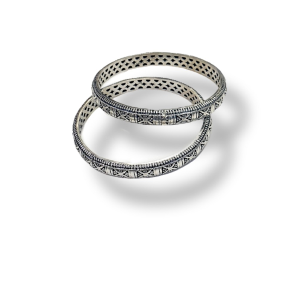 92.5 silver hollow bangle