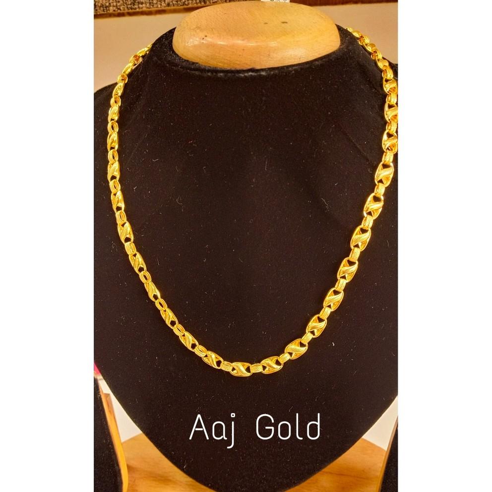 22 kt gold fancy Holo chain