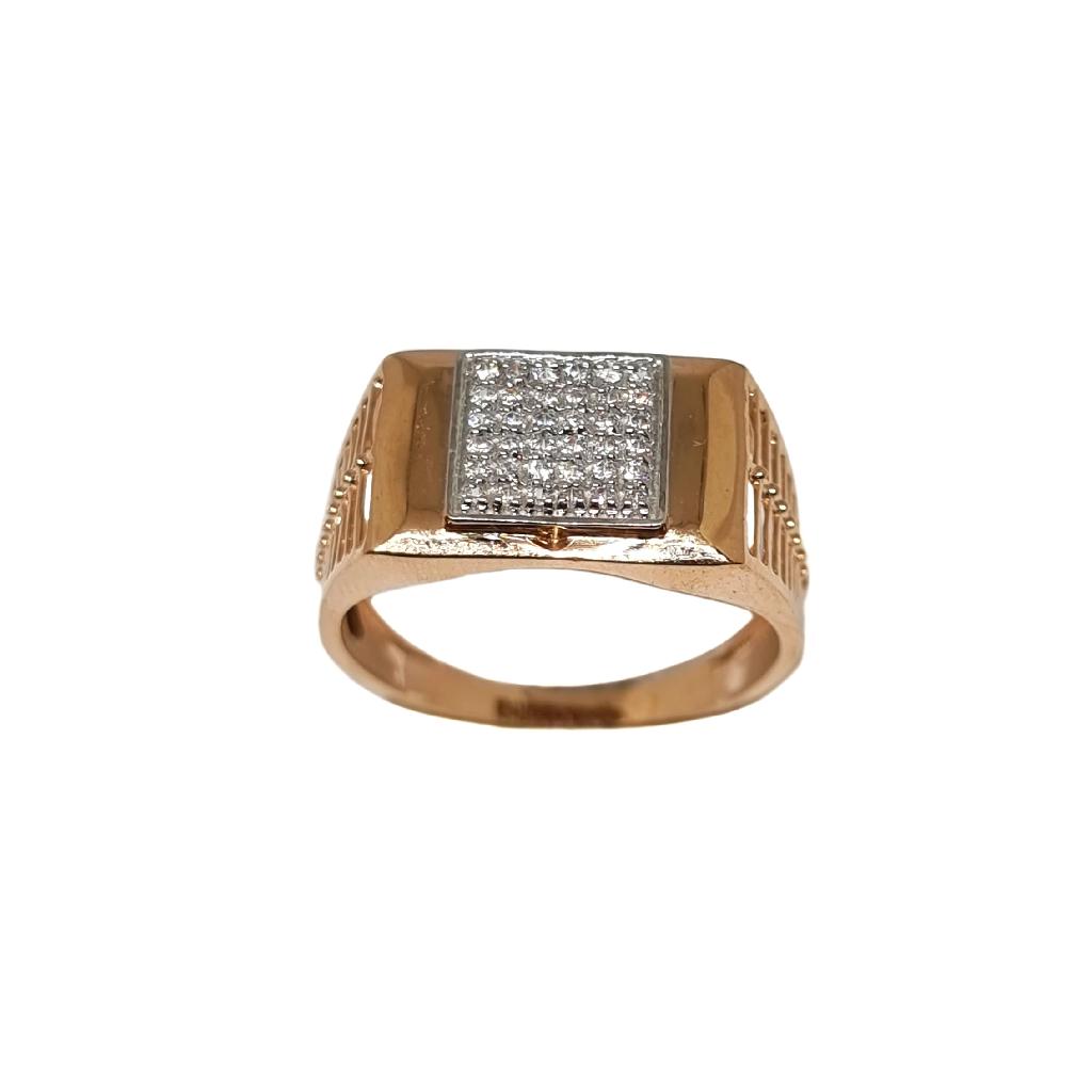 18K Rose Gold Fancy Gents Ring MGA - GRG0258