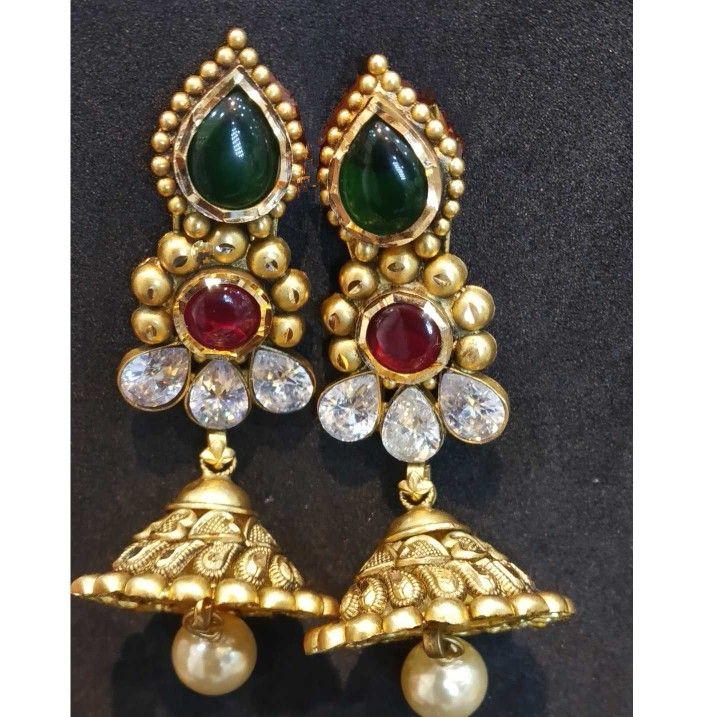 22 kt gold jodhpuri bridal antique set