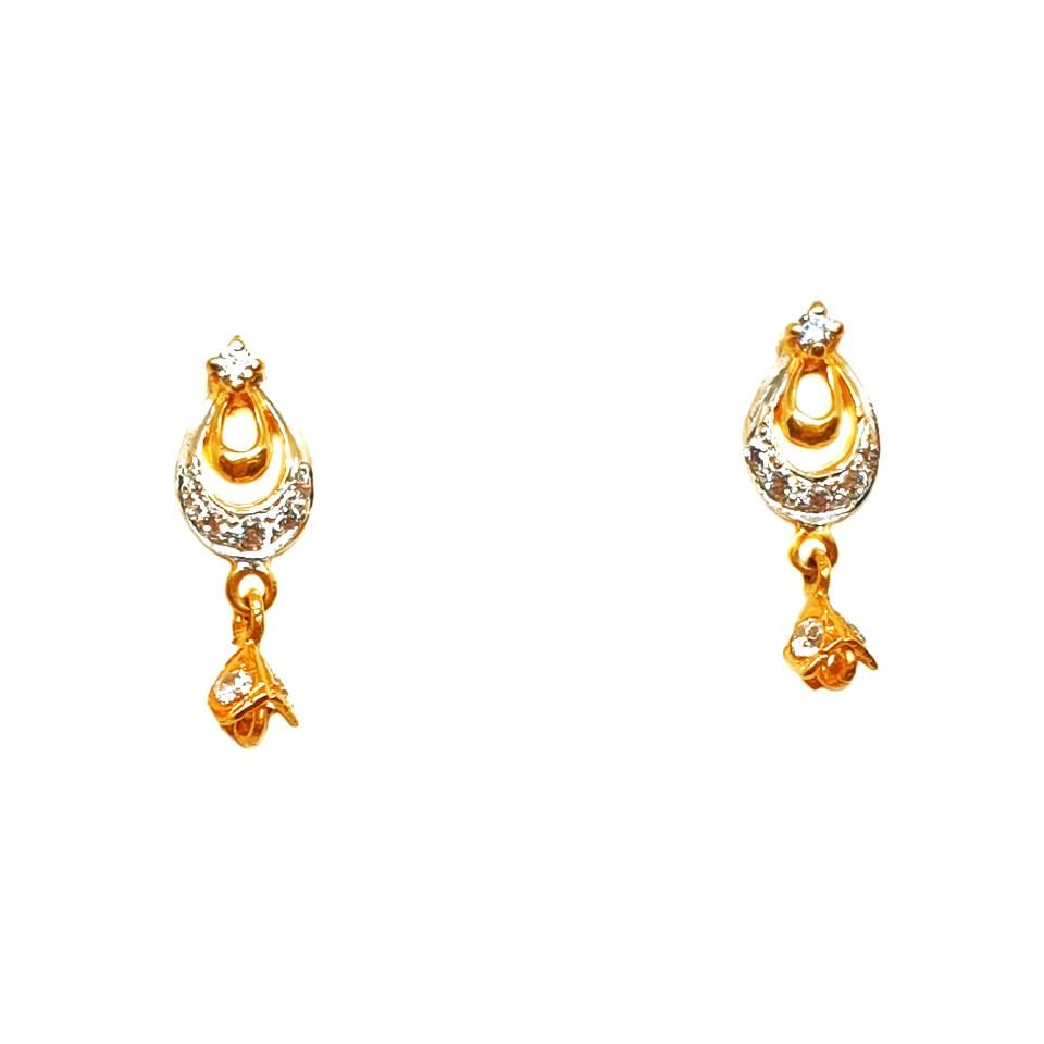 22K Gold Modern Style Earrings MGA - BTG0091