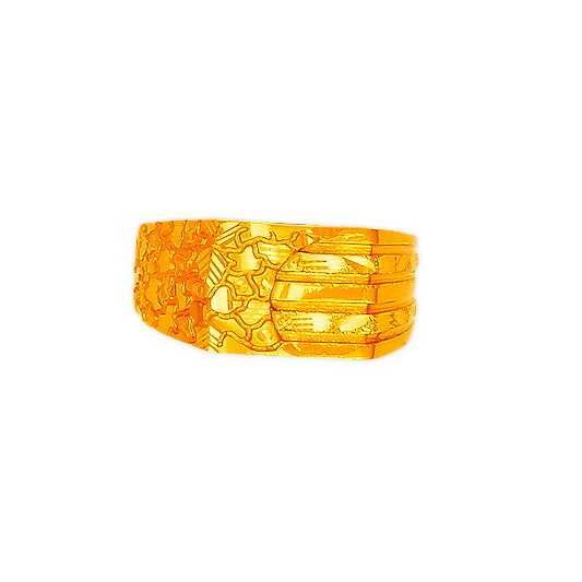 22K/916 Gold Classic Plain Gents Ring