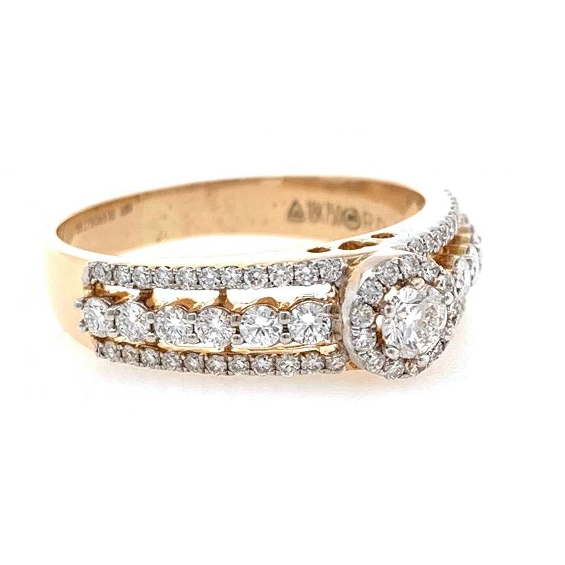 18kt / 750 rose gold engagement diamond ring 8lr263