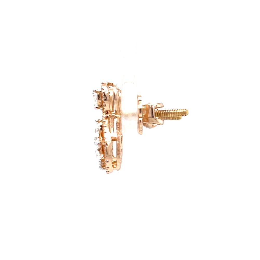 Kostbar diamond stud in 18k hallmark rose gold